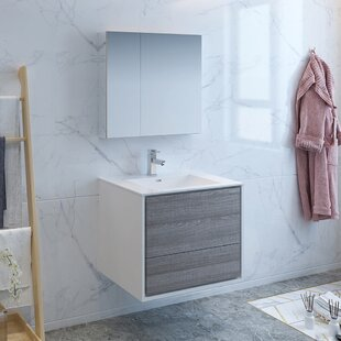 Senza Tuscany 30 WallMounted Single Bathroom Vanity Set with Medicine Cabinet