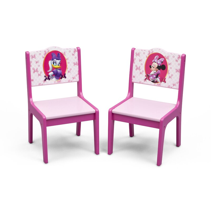 Minnie Mouse Kids 3 Piece Writing Table And Chair Set