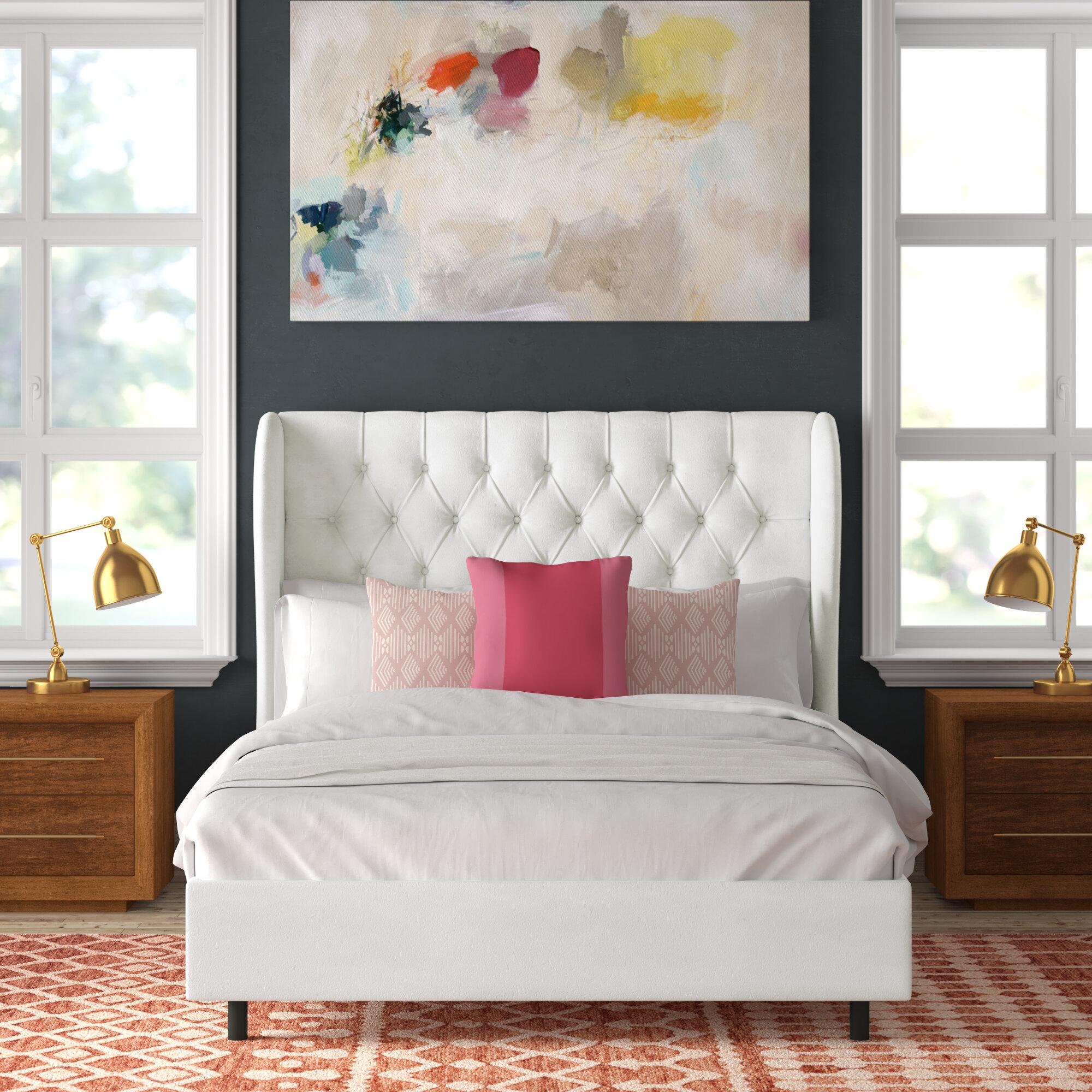 Boyles Diamond Tufted Upholstered Standard Bed Reviews Joss Main