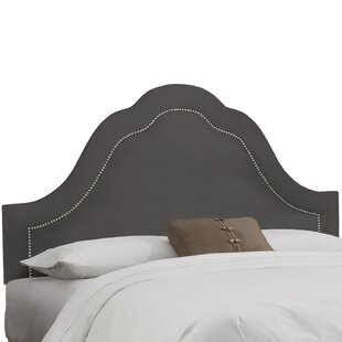 Premier Inset Nail Button Arch Upholstered Panel Headboard by House of Hampton