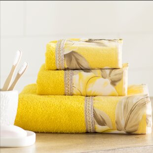 Lys 3 Piece 100% Cotton Towel Set