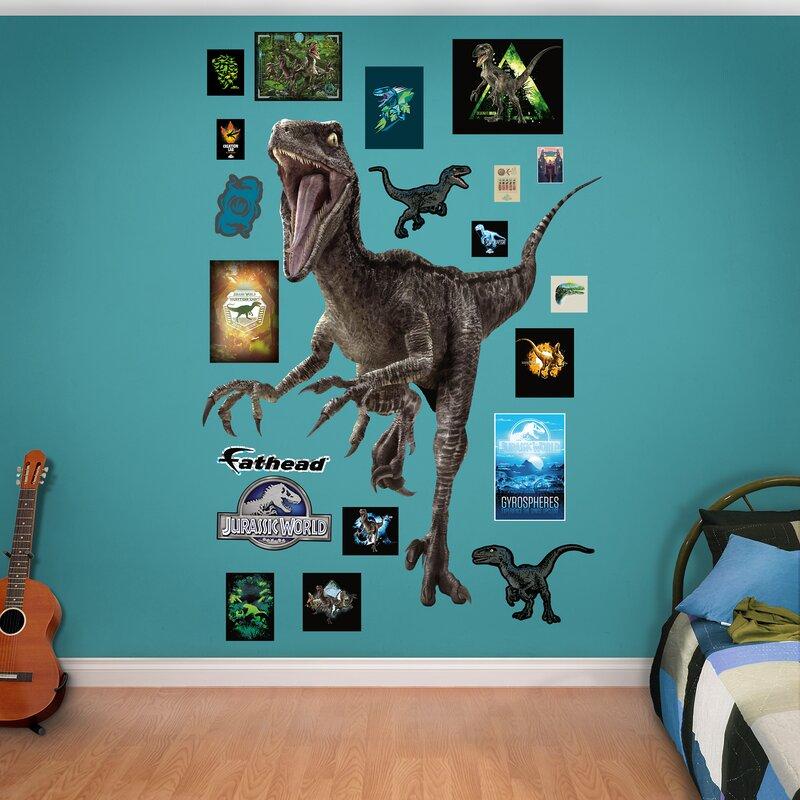 Fathead NBC Universal Velociraptor Jurassic World Peel And Stick - Jurassic world wall decals