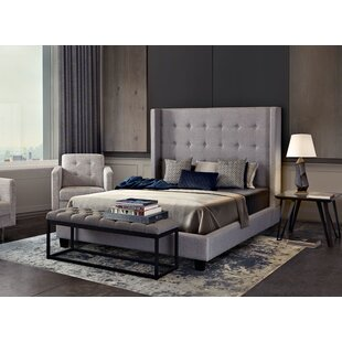 Madison Ave Tufted Wing Upholstered Panel Bed by Diamond Sofa