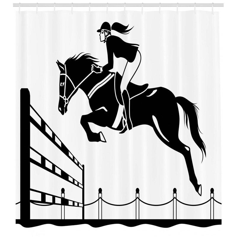 Female horseback rider black metal single wall hook