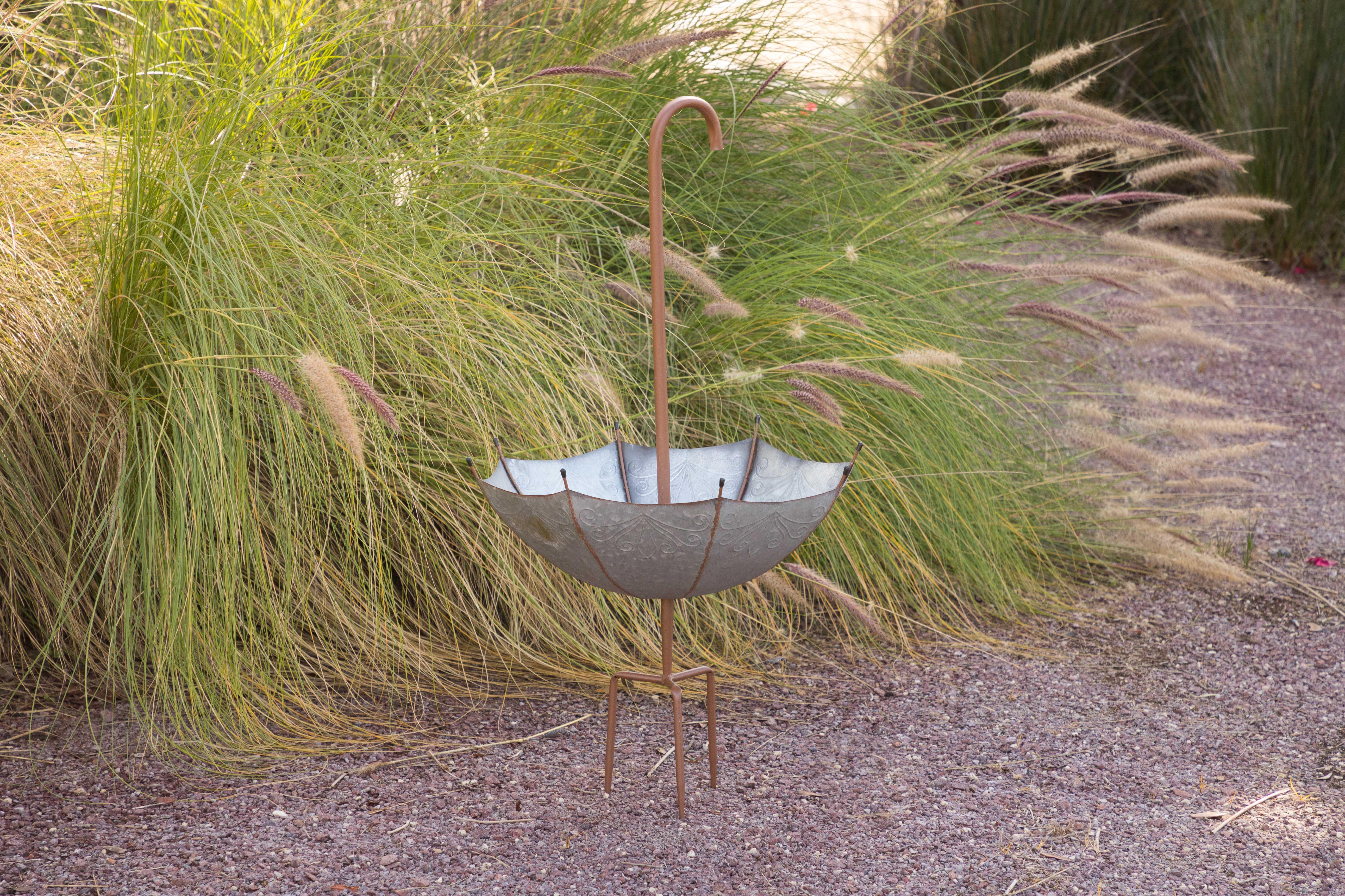 Williston Forge Metal Inverted Umbrella Flower Pot Planter Wayfair