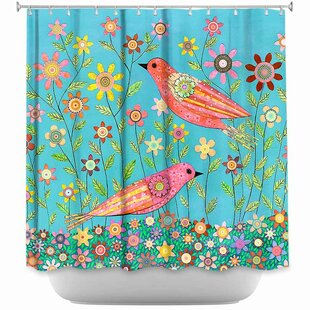 Bohemian Birds Single Shower Curtain