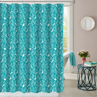 Micelotta Leaf Polyester Single Shower Curtain