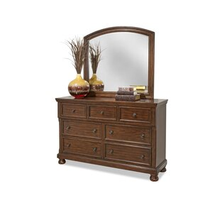 Estefania 7 Drawer Double Dresser with Mirror by Charlton Home