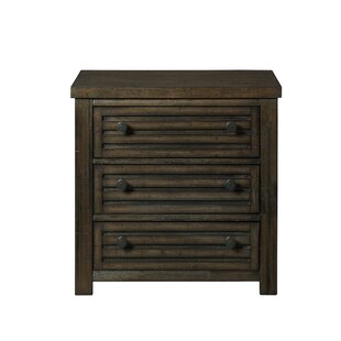 Gracie Oaks Panola 2 Drawer Nightstand