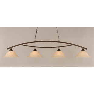 Fleur De Lis Living Blankenship 4-Light Kitchen Island Pendant