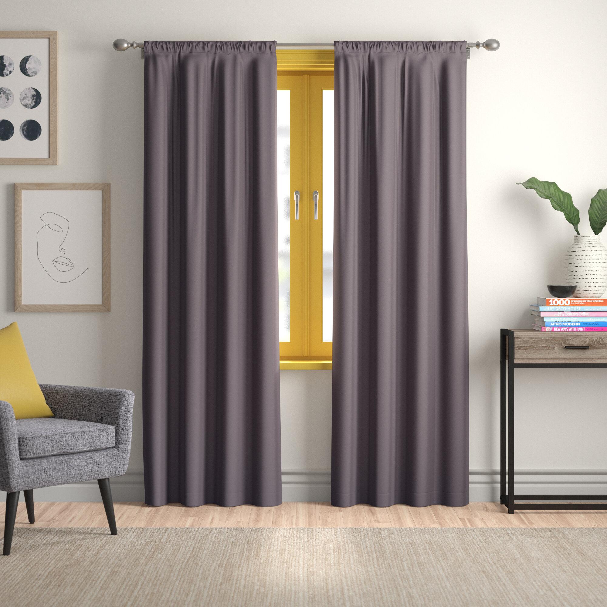 Rideaux Design Pour Chambre panneau de rideau simple pour assombrir la chambre thermique madilynn