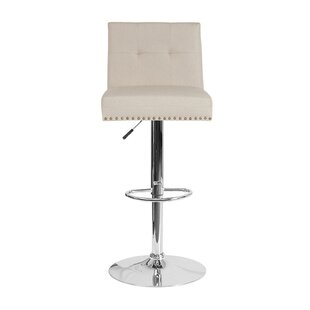 Brigham Adjustable Height Swivel Bar Stool House of Hampton
