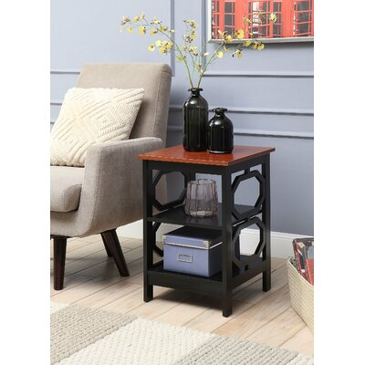 Ardenvor End Table Table Base Color: Black, Table Top Color: Cherry by Beachcrest Home