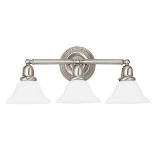 Darmstadt Traditional 3-Light Vanity Light by Three Posts