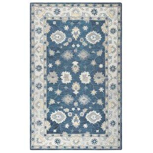 Leone Hand-Tufted Wool Blue/Beige Area Rug by Birch Lane™ Heritage