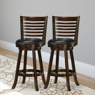 Leakey 29.5 Swivel Bar Stool (Set of 2) Latitude Run