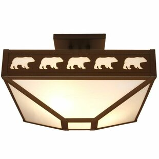 Band of Bears 4-Light Semi Flush Mount by Steel Partners