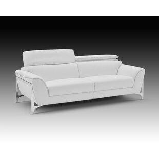 Orren Ellis Binghampton Leather Sofa