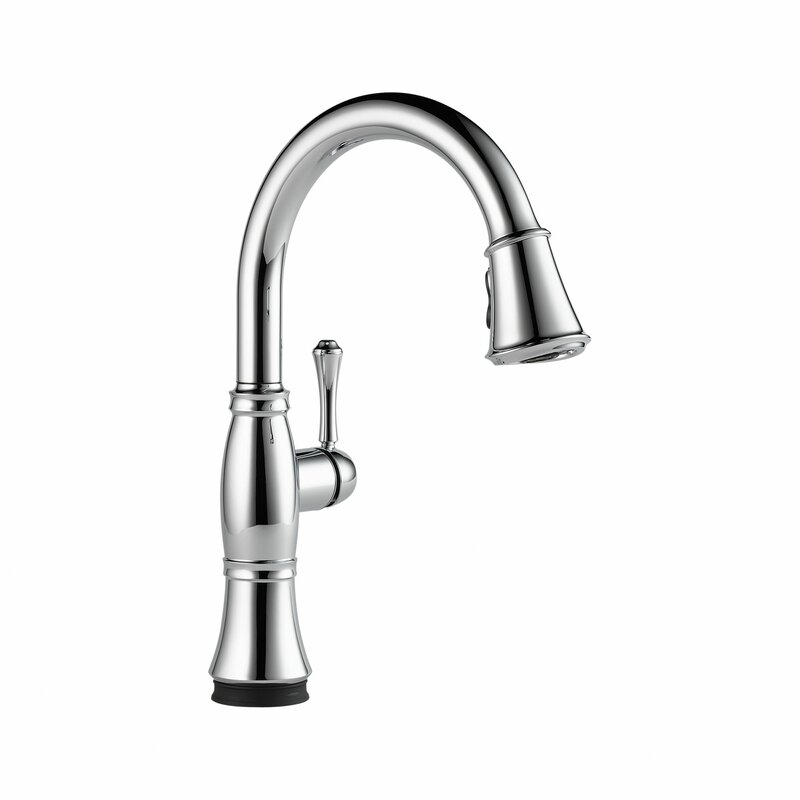 Cidy Pull Down Touch Single Handle Kitchen Faucet With Led Light And Magnae Docking