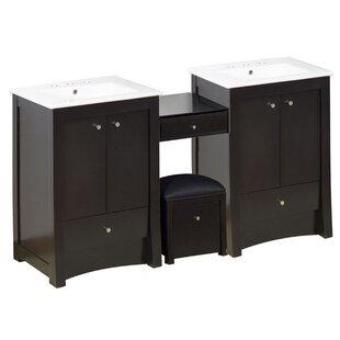 Elite Birch Wood-Veneer 67 Double Bathroom Vanity Base by American Imaginations