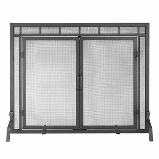 Alashia Single Panel Iron Fireplace Screen By Latitude Run