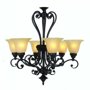 Yosemite Home Decor Florence 6-Light Shaded Chandelier