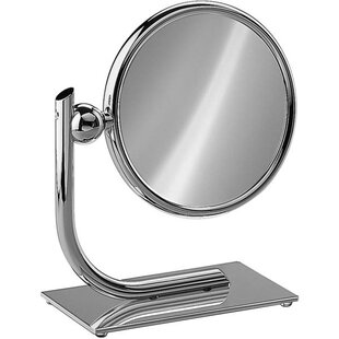 Reviews Everts Round Double-Sided Makeup/Shaving Mirror By Red Barrel Studio