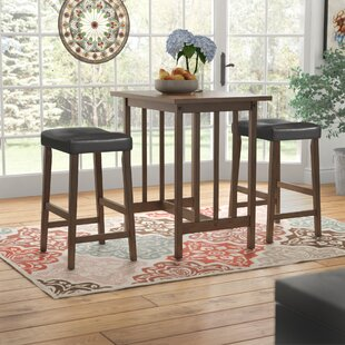 Hood Canal 3 Piece Dining Set Red Barrel Studio