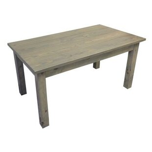 Bungalow Rose Arrowpoint Handcrafted Dining Table