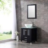 Aldobrando 24 Single Bathroom Vanity Set with Mirror by Ebern Designs