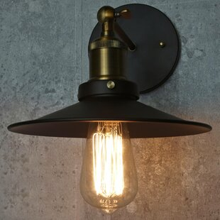 Plainfield 1-Light Armed Sconce by Wrought Studio