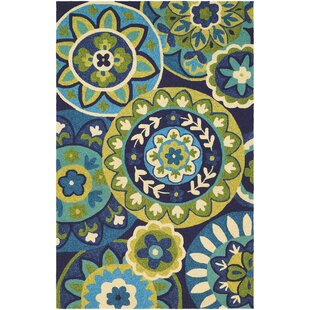 Buy luxury Croydon Hand-Woven Ocean Indoor/Outdoor Area Rug By Red Barrel Studio