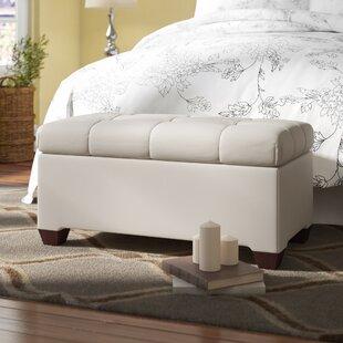 Velvet Upholstered Storage Bench by Alcott Hill