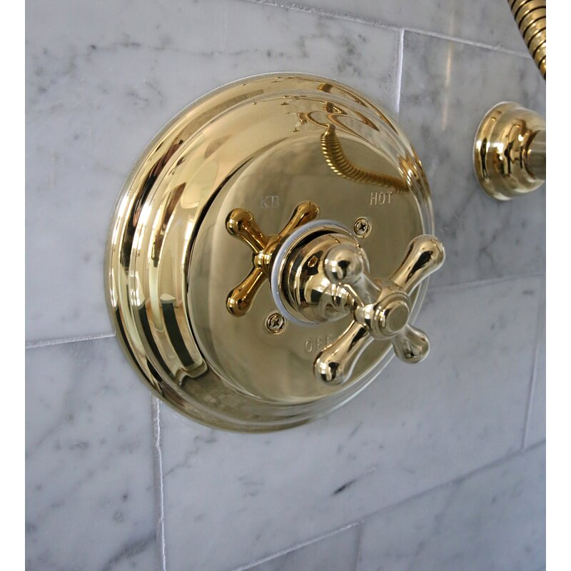Kingston Brass Restoration Volume Control Shower Faucet With Rough In Valve Reviews Wayfair