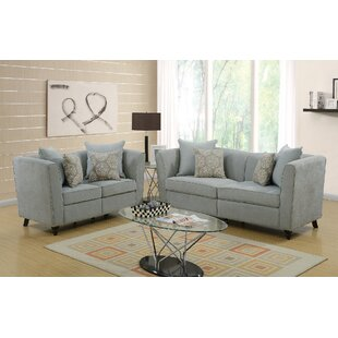 House of Hampton Moorehead 2 Piece Living Room Set