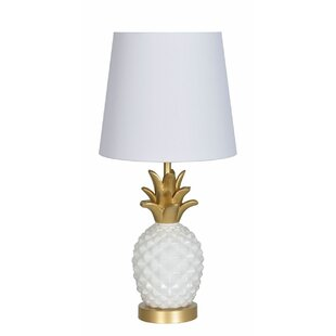 Broyhill pineapple lamp wayfair newark pineapple 19 table lamp aloadofball Image collections