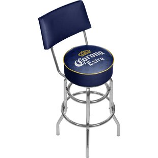 Corona 31 Swivel Bar Stool by Trademark Global New Design