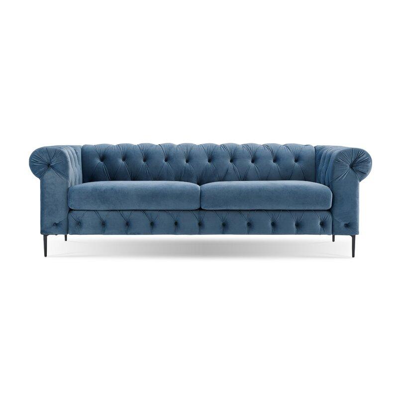 Kohlmeier Chesterfield Sofa #chesterfield #sofa #blue #velvet