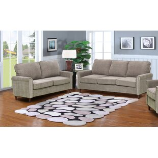 Hayton Fabric Modern 2 Piece Solid Living Room Set by Charlton Home