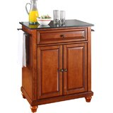 Cambridge Kitchen Cart with Granite Top by Three Posts