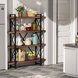 Henke 55.9 H x 47.24 W Metal Standard Bookcase by 17 Stories