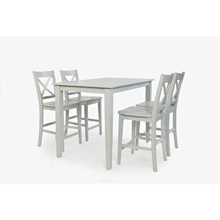 Keanu Counter Height 5 Piece Pub Table Set