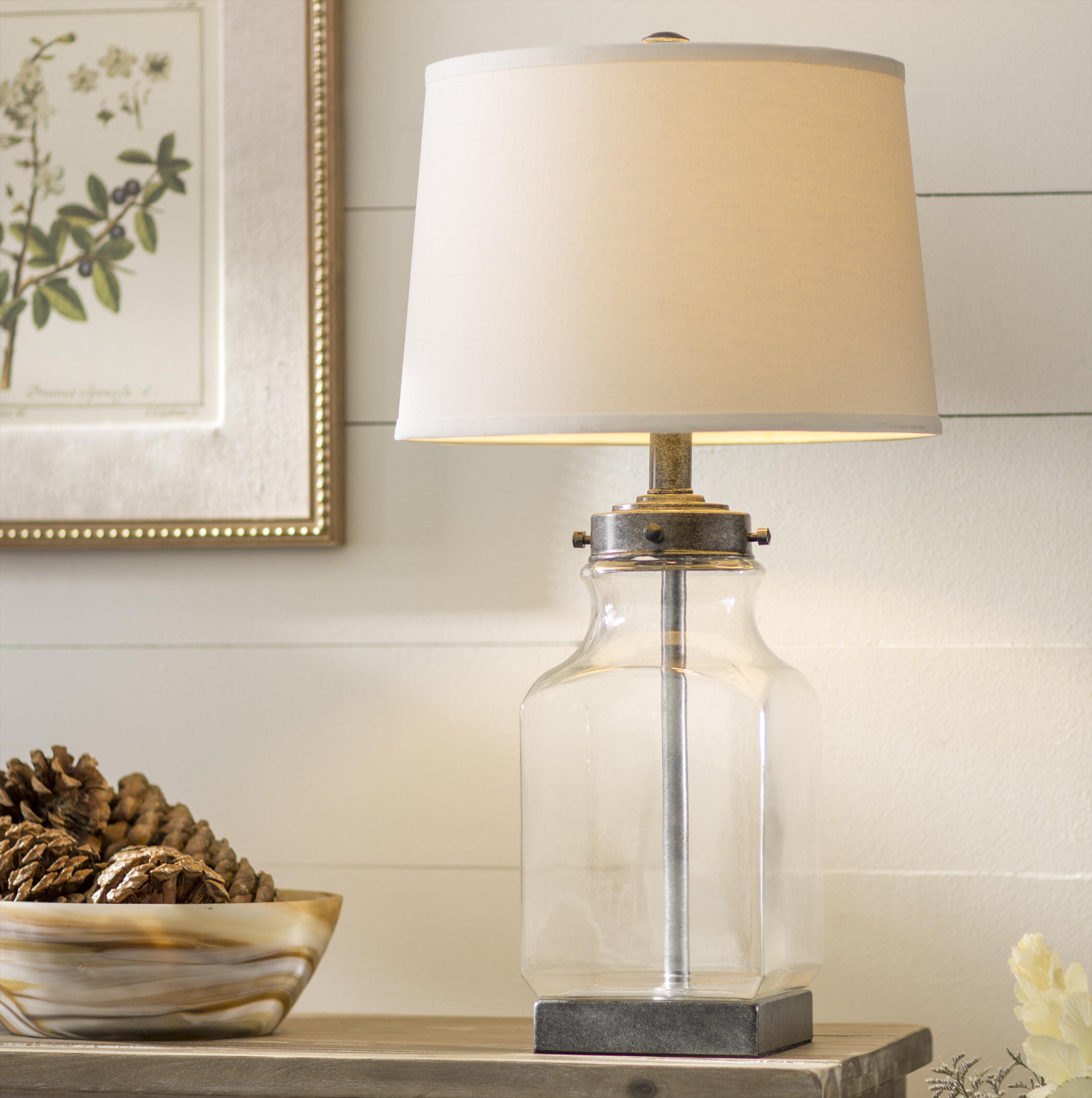 Laurel Foundry Modern Farmhouse Walnut Grove 30 Table Lamp