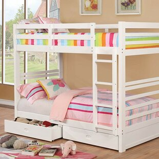 Foerer Twin over Twin Bunk Bed with Drawers