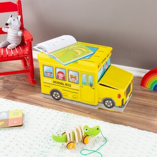 Carr Collapsible School Bus Toy Box by Zoomie Kids