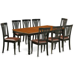 Pimentel 9 Piece Solid Wood Dining Set by August Grove New Design