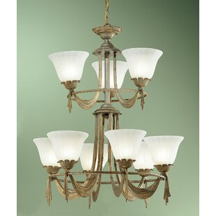 Classic Lighting Saratoga 9-Light Shaded Chandelier