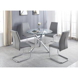 Edelare Dining Set With 4 Chairs By Wade Logan