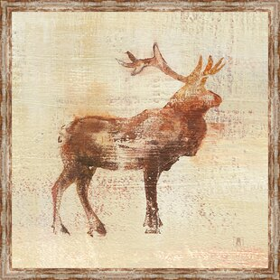 'Elk Study V2' Framed Acrylic Painting Print on Canvas By Millwood Pines
