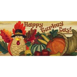 Happy Turkey Day Sassafras Switch Mat
